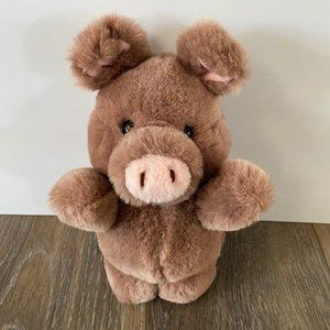 Vintage Russ Berrie Rosebud Pig Plush Toy 452 Rare